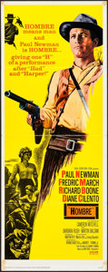 "Movie Posters:Western, Hombre (20th Century Fox, 1966). Folded, Very Fine-. Insert (14"" X 36""). Western.. ..."