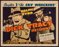 """Movie Posters:Serial, Dick Tracy Returns (Republic, 1938). Title Lobby Card (11"""" X 14"""") Chapter 1 -- """"The Sky Wreckers,"""" Chester Gould Artwork. Se..."""