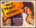 "Movie Posters:Crime, Dick Tracy vs. Cueball (RKO, 1946). Title Lobby Card (11"" X 14"").Crime.. ..."