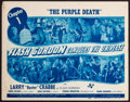 "Movie Posters:Serial, Flash Gordon Conquers the Universe (Universal, 1940). Title LobbyCard (11"" X 14""). Chapter 1 -- ""The Purple Death."" ..."