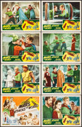 """Movie Posters:Science Fiction, Mars Attacks the World (Filmcraft, R-1950). Lobby Card Set of 8(11"""" X 14""""). Science Fiction.. ... (Total: 8 Items)"""