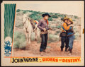 "Movie Posters:Western, Riders of Destiny (Monogram, 1933). Lobby Card (11"" X 14""). Western.. ..."