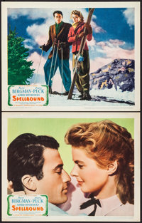 "Spellbound (United Artists, 1945). Lobby Cards (2) (11"" X 14""). Hitchcock. ... (Total: 2 Items)"
