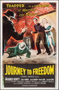 """Movie Posters:Action, Journey to Freedom (Republic, 1957). One Sheet (27"""" X 41"""").Action.. ..."""