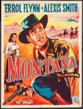 """Movie Posters:Western, Montana & Others Lot (Warner Brothers, 1950). Trimmed Belgian(14"""" X 18""""), French Grande (46"""" X 62""""), Australian One Sheets ...(Total: 7 Items)"""