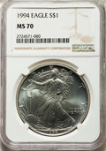 1994 $1 Silver Eagle MS70 NGC....(PCGS# 9876)