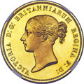 Great Britain: Victoria gold Proof 'Una and the Lion' 5 Pounds 1839 PR61+ Ultra Cameo NGC