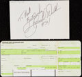 Autographs:Others, Herschel Walker Signed Cut and Boarding Pass.. ...