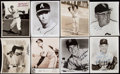 Autographs:Photos, Baseball Hall of Fame Signed Photograph and Letter Lot of 21.. ...