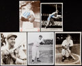 Autographs:Photos, Enos Slaughter Signed Business Card, Card, and Photograph Lot of11.. ...