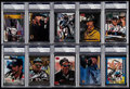 Autographs:Sports Cards, 1990's Dale Earnhardt Signed Card Collection (10) - PSA/DNA Encapsulated....