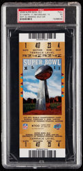 Football Collectibles:Tickets, 2008 Super Bowl XLII (Gold) Full Ticket PSA EX 5- N.Y. Giants Win 3rd Super Bowl Title. ...