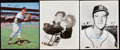 Autographs:Photos, Warren Spahn Signed Photograph Lot of 3.. ...