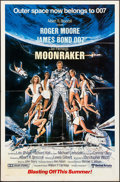 "Movie Posters:James Bond, Moonraker (United Artists, 1979). Folded, Very Fine-. One Sheet (27"" X 41""). Advance, Dan Goozee Artwork. James Bond.. ..."