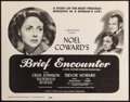 """Movie Posters:Romance, Brief Encounter (Universal International, 1947). First Release US Title Lobby Card (11"""" X 14""""). Romance.. ..."""