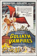 """Movie Posters:Horror, Goliath and the Vampires (American International, 1964). One Sheet (27"""" X 41""""). Reynold Brown Artwork. Horror.. ..."""