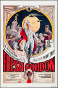 "Movie Posters:Sexploitation, Flesh Gordon (Mammoth Films, 1974). One Sheets (5) Identical (27"" X41""). George Barr Artwork. Sexploitation.. ... (Total: 5 Items)"