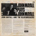 Music Memorabilia:Autographs and Signed Items, John Mayall & the Bluesbreakers Including Eric Clapton and John McVie Signed John Mayall Plays John Mayall Mono LP...