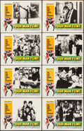 "Movie Posters:Adventure, Our Man Flint (20th Century Fox, 1966). Lobby Card Set of 8 (11"" X14"") Bob Peak Artwork. Adventure.. ... (Total: 8 Items)"