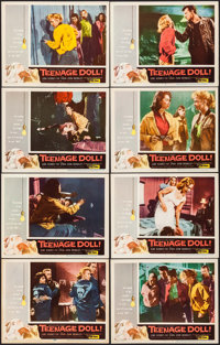 "Teenage Doll (Allied Artists, 1957). Lobby Card Set of 8 (11"" X 14""). Bad Girl. ... (Total: 8 Items)"