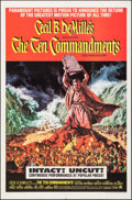 "Movie Posters:Drama, The Ten Commandments (Paramount, R-1966). One Sheet (27"" X 41"").Frank McCarthy Artwork. Drama.. ..."