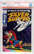 Silver Age (1956-1969):Superhero, The Silver Surfer #4 Stan Lee Verified Signature (Marvel, 1969) CBCS NM/MT 9.8 White pages....