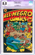 Golden Age (1938-1955):Humor, All-Negro Comics #1 Trimmed (All-Negro Comics, 1947) CGC Apparent VF 8.0 White pages....