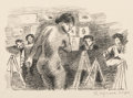Fine Art - Work on Paper:Print, Raphael Soyer (1899-1987). Sketch Class, c. 1932. Lithograph on paper. 5-5/8 x 8-1/2 inches (14.3 x 21.6 cm) (image). 10...