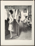 Fine Art - Work on Paper:Print, Raphael Soyer (1899-1987). In the Studio, 1944. Lithograph on paper. 12-1/4 x 9-1/2 inches (31.1 x 24.1 cm) (image). 15-...
