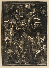Marguerite Thompson Zorach (1887-1968) A New England Family (The Father), 1915 Linocut on paper 1