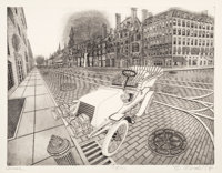 Bruce McCombs (b. 1943) Avenue, 1975 Etching and aquatint on paper 21-5/8 x 27-7/8 inches (54.9 x