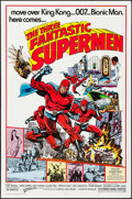 """Movie Posters:Action, The Three Fantastic Supermen (21st Century, 1976). One Sheets (10)Identical (27"""" X 41"""") Keith Pollard Artwork. Actio..."""