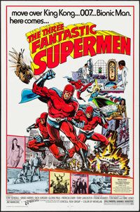 "The Three Fantastic Supermen (21st Century, 1976). One Sheets (10) Identical (27"" X 41"") Keith Pollard Artwork..."
