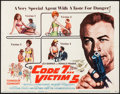 "Movie Posters:Action, Code 7, Victim 5 & Others Lot (Columbia, 1964). Title LobbyCard & Lobby Card Set of 8 (11"" X 14"") & One Sheets (2)(..."
