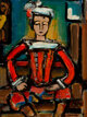Georges Rouault (1871-1958) Amazone, 1917 Oil on canvas 18-1/2 x 13-1/2 inches (47.0 x 34.3 cm) Signed lower right:...