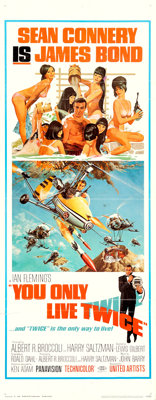 """You Only Live Twice (United Artists, 1967). Insert (14"""" X 36"""") Frank McCarthy and Robert McGinnis Artwork"""