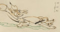 Animation Art:Production Drawing, Donald's Dog Laundry Donald Duck and Pluto Animation Drawing(Walt Disney, 1940)....