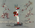 "Animation Art:Limited Edition Cel, ""Baseball Bugs"" Friz Freleng-Signed Limited Edition Cel #103/1200(1990)...."