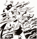 Original Comic Art:Covers, Michael Cho JLA: The Silver Age #1 Cover Original Art (DC,2016)....
