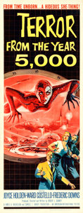 "Movie Posters:Science Fiction, Terror from the Year 5000 (American International, 1958). Insert(14"" X 36"") Albert Kallis Artwork.. ..."