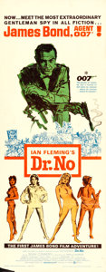 "Movie Posters:James Bond, Dr. No (United Artists, 1962). Insert (14"" X 36"") Mitchell HooksArtwork.. ..."