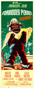 """Movie Posters:Science Fiction, Forbidden Planet (MGM, 1956). Insert (14"""" X 36"""")."""