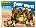 "Movie Posters:Animation, Snow White and the Seven Dwarfs (RKO, 1937). Half Sheet (22"" X 28"") Style A, Gustaf Tenggren Artwork.. ..."