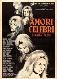 "Famous Love Affairs (Rank, 1961). Italian 2 - Fogli (39"" X 55"") Giuliano Nistri Artwork"