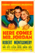 "Movie Posters:Fantasy, Here Comes Mr. Jordan (Columbia, 1941). One Sheet (27"" X 41"") StyleB. Fantasy.. ..."