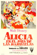 """Movie Posters:Animation, Alice in Wonderland (RKO, 1951). Argentinean One Sheet (29"""" X 43"""").. ..."""