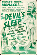 "Movie Posters:Crime, The Devil's Sleep (Screen Classics Inc., 1949). One Sheet (28"" X41.5"").. ..."