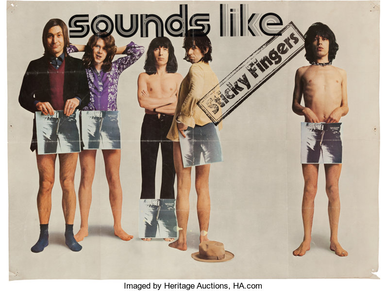 Rolling Stones Sticky Fingers Promotional Poster (1971