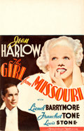"Movie Posters:Comedy, The Girl from Missouri (MGM, 1934). Window Card (14"" X 22"").. ..."