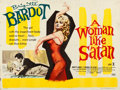 "Movie Posters:Bad Girl, A Woman Like Satan (United Artists, 1960). British Quad (30"" X40"").. ..."